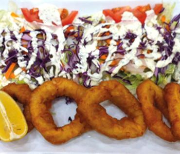 Calamars frits - Grillade chez Nikos