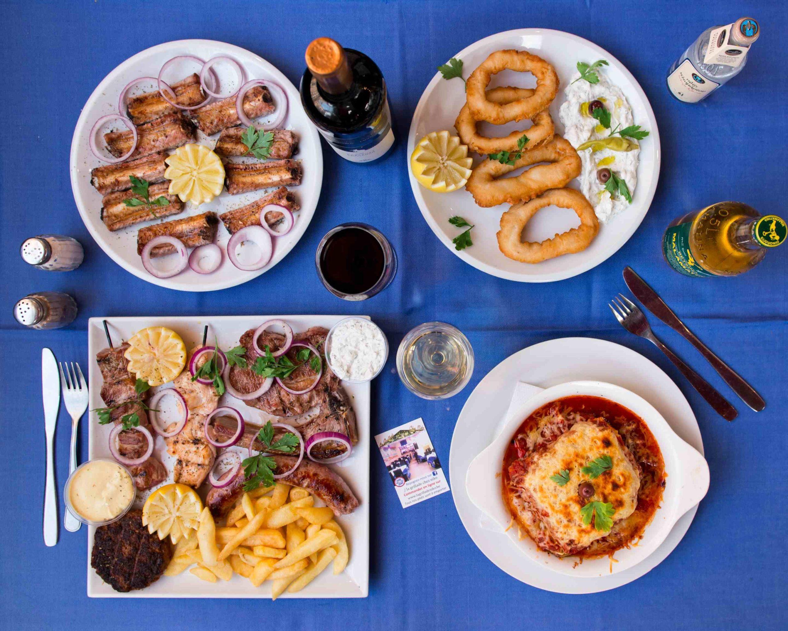 La Grillade Chez Nikos - Petits os au feu de bois - Restaurant Grec Bruxelles et livraison